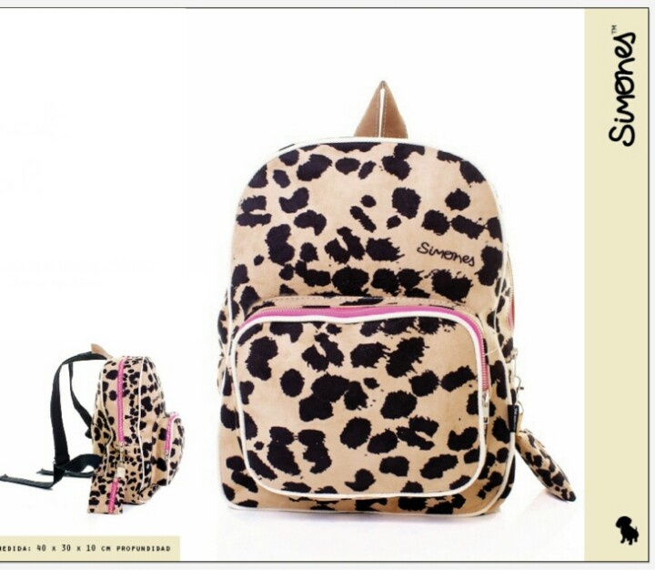 Animal print backpack by Simones