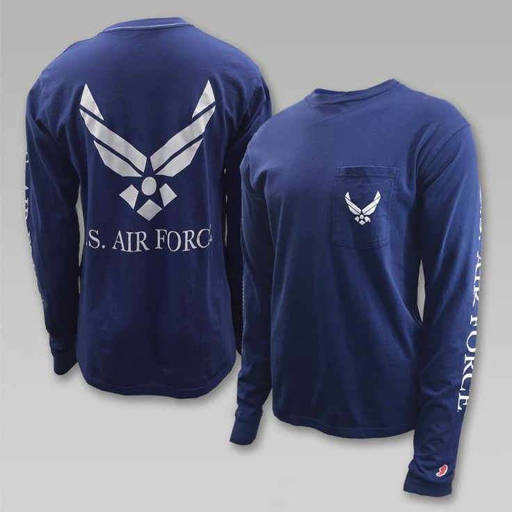 "This vintage inspired long sleeve T from League will be welcomed with open arms. The super soft wash gives this T a lived in feel! &nbsp  100% Cotton Pocket on front left chest Water based ink used for the screen printed designs front, back and sleeve has a soft hand Screen print ""US Air Force"" down the left sleeve Screen print ""US Air Force"" and wings logo on back  Wings logo on front chest pocket"