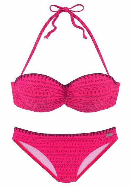 Bügel-Bandeau-Bikini mit Häkelrand   – Products
