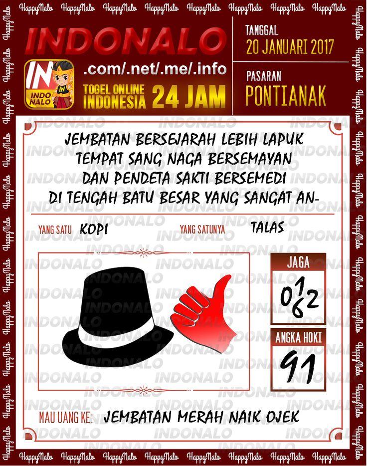 Nomer Hoki 4D Togel Wap Online Live Draw 4D Indonalo Pontianak 20 Januari 2017