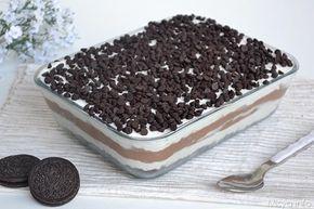 La Chocolate Lasagna è una di quelle idee porcose che solo gli americani potevano avere :P Nonostante ciò, non ho resistito a provarla e devo dire che,