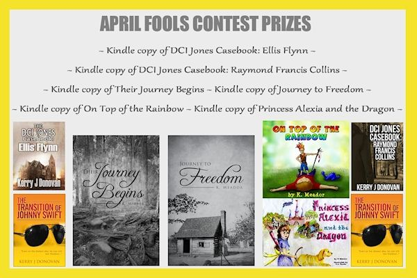 April Fools Contest Announced http://www.rafflecopter.com/rafl/display/1eb0f00/ or to pre-order: http://britainsnextbestseller.co.uk/index.php/book/index/TheTransitionofJohnnySwift