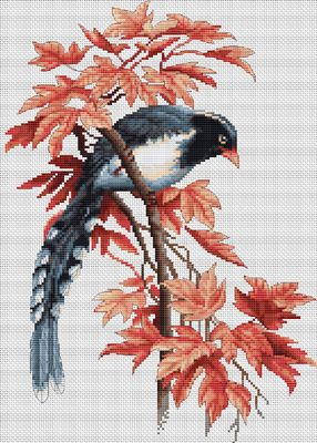 Bird Cross Stitch Kit By Luca S