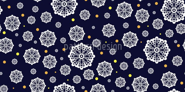 Romantic Snowfall Pattern Design Pattern Design by Elena Alimpieva at patterndesigns.com
