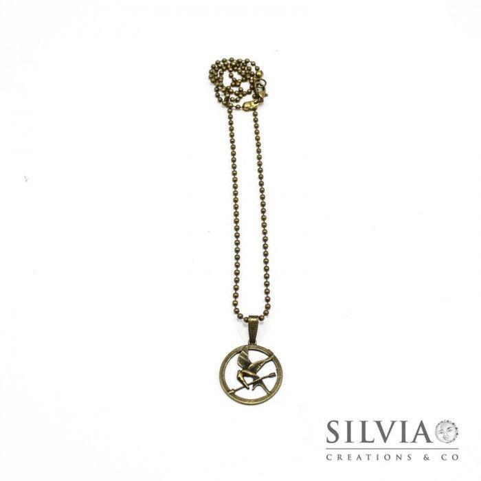 Collana media Hunger Games  ghiandaia imitatrice bronzo