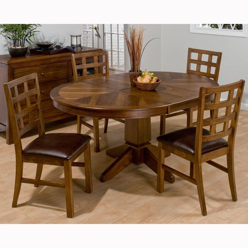 Round Dinette Set With Butterfly Leaf