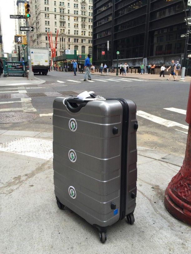 La valise American Tourister Pasadena Spinner, par le blogueur voyage Bons Plans Voyages d'Alex