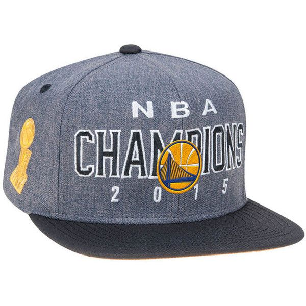 Golden State Warriors 2015 NBA LR Finals Champ Snapback Cap ($30) ❤ liked on Polyvore featuring accessories, hats, nba hats, golden hat, cap hats, snapback cap and snapback hats