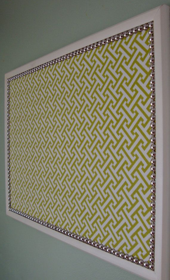 Home office material.  Decorative Bulletin Board  Memo Board   17 x 23 Large by OnlyLally, $48.00