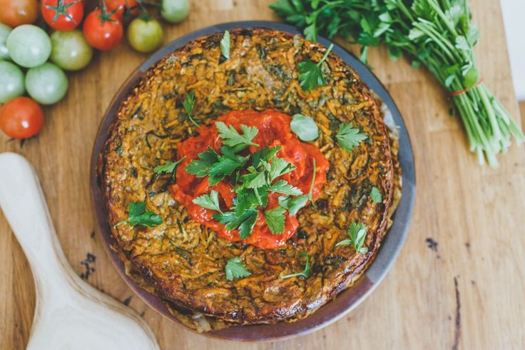 Sweet Potato Savoury Slice: This recipe is a favourite when I'm catering yoga retreats. It's delicious, quick to make and just hits the spot.