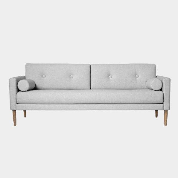 """""""Calm"""" ljusgrå soffa i bomull"""