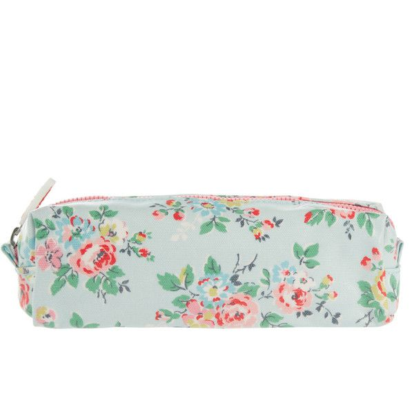 Cath Kidston Light Blue Kingswood Rose Pencil Case ($12) ❤ liked on Polyvore featuring home, home decor, office accessories, cath kidston, zipper pencil case, zip pencil case and zipper pencil pouch