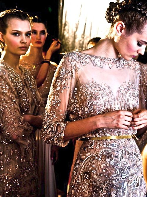backstage at Elie Saab Haute Couture