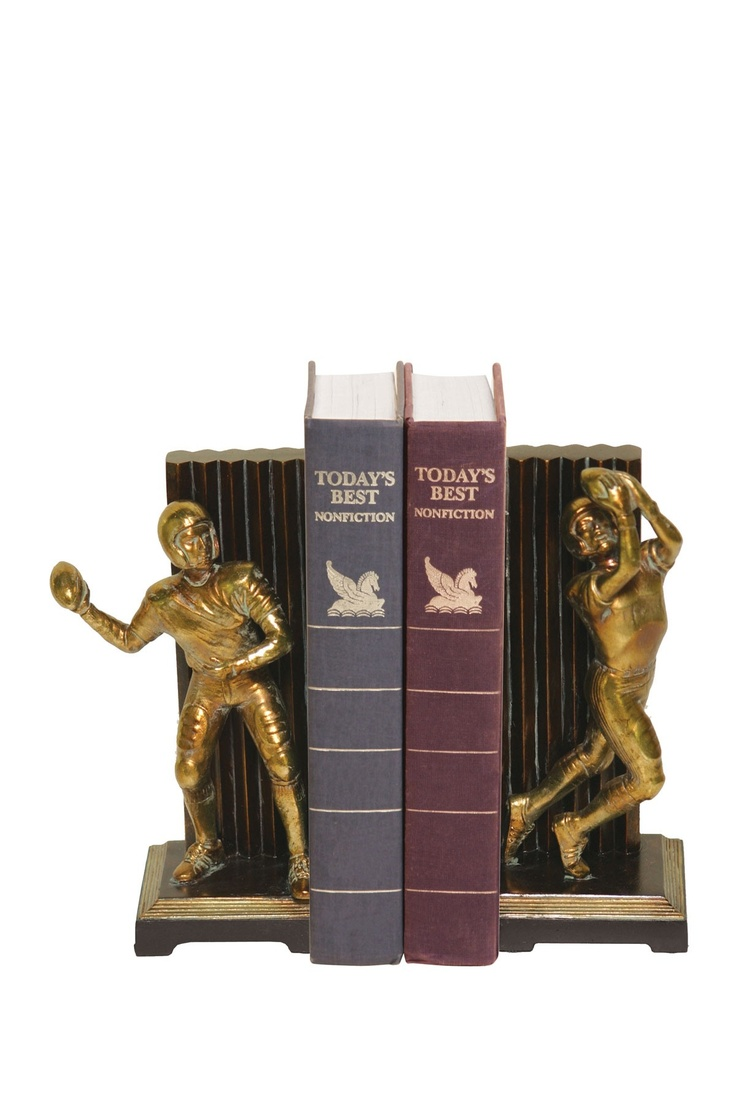 Vintage Touchdown Bookends - Set of 2