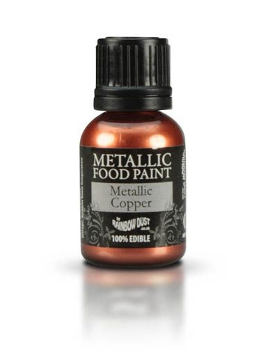 Metallic Copper Food Paint - The Vanilla Valley - Ideal for Steampunk cakes