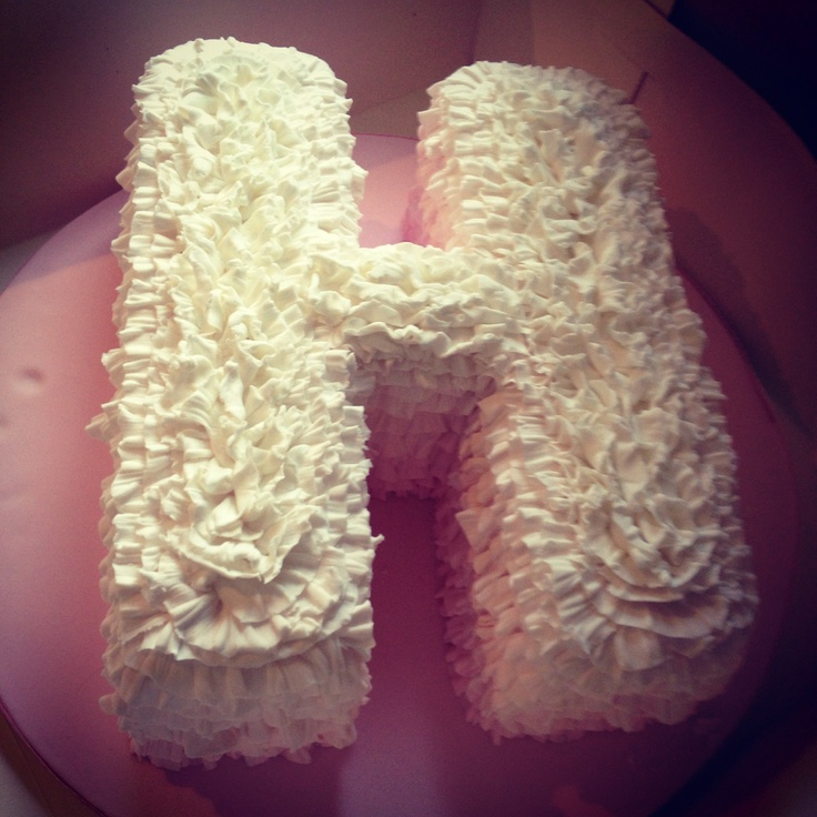 First Birthday Pastel Letter Cake By Great British
