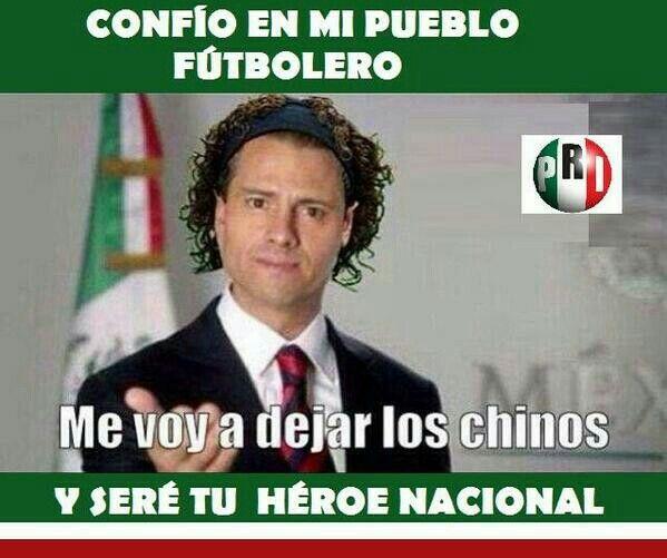 Meme Memo Ochoa Mexico Mundial 2014 Presidente de Mexico Peña Nieto