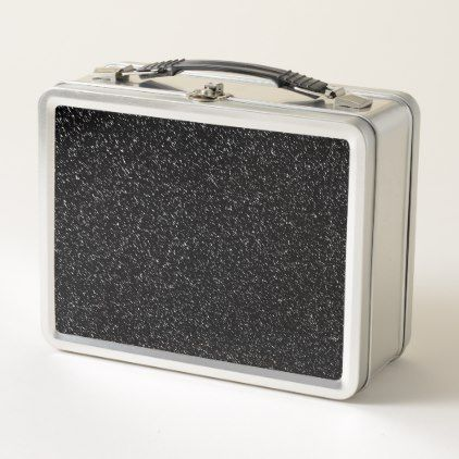 Modern Black Stone style -Space- Metal Lunch Box - black and white gifts unique special b&w style