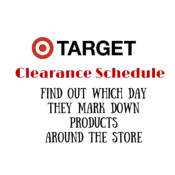 Have you ever wanted to know when Target makes down their clearance items? You will want to keep this Target Clearance Schedule Handy.