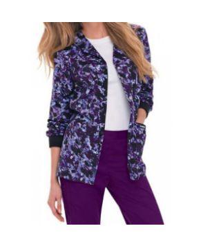 Landau Smart Stretch Purple Reign print scrub jacket - Purple Reign  #nursing #scrubs | Shop @ NursingClothes.com