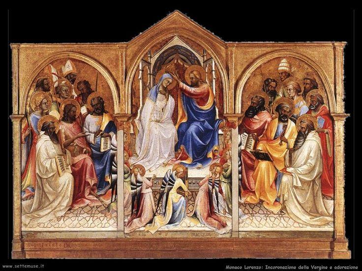 """trittico de """"L'incoronazione della Vergine"""" di Lorenzo Monaco - datato 1414"""