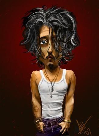 Las mejores caricaturas de actores famosos johnny depp