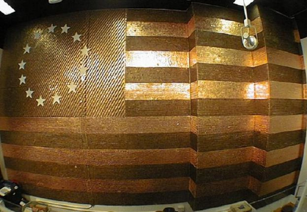 Penny Flag Wall | 25 Pretty Penny Projects To DIY