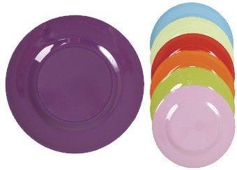 assiette colorée en mélamine 20cm Rice   shop pour enfants Le Petit Zèbre