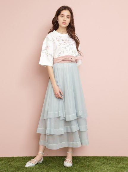 チュールスカート(ロングスカート)|FURFUR(ファーファー)|ファッション通販|ウサギオンライン公式通販サイト