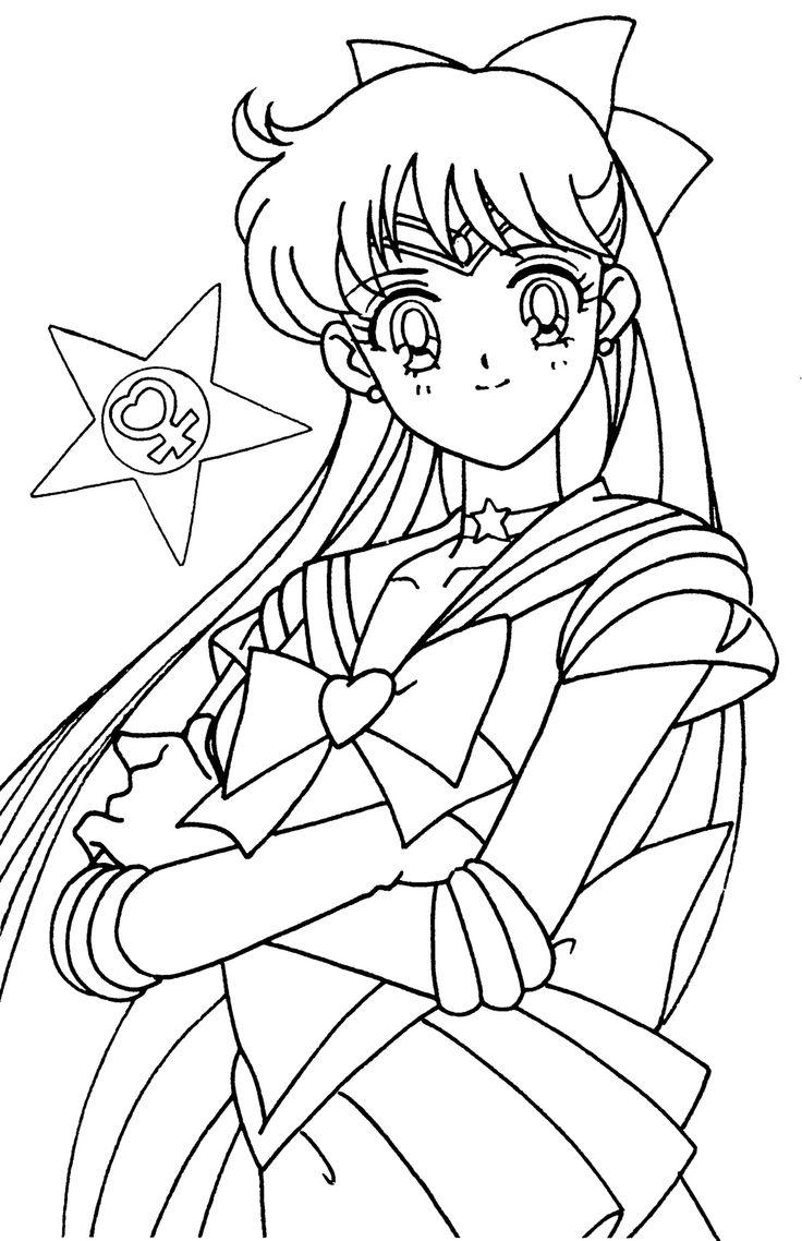 262 best images about coloring sailor moon sailor scouts for Sailor venus coloring pages