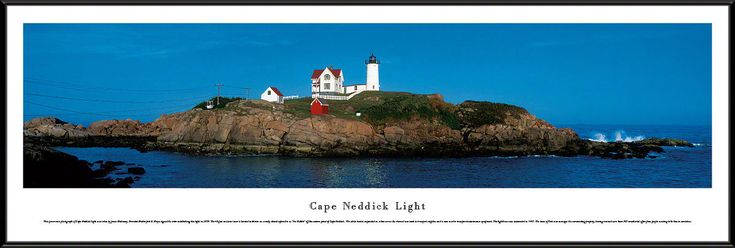 cool Cape Neddick Light Panoramic Picture  Framed   Check more at http://harmonisproduction.com/cape-neddick-light-panoramic-picture-framed/