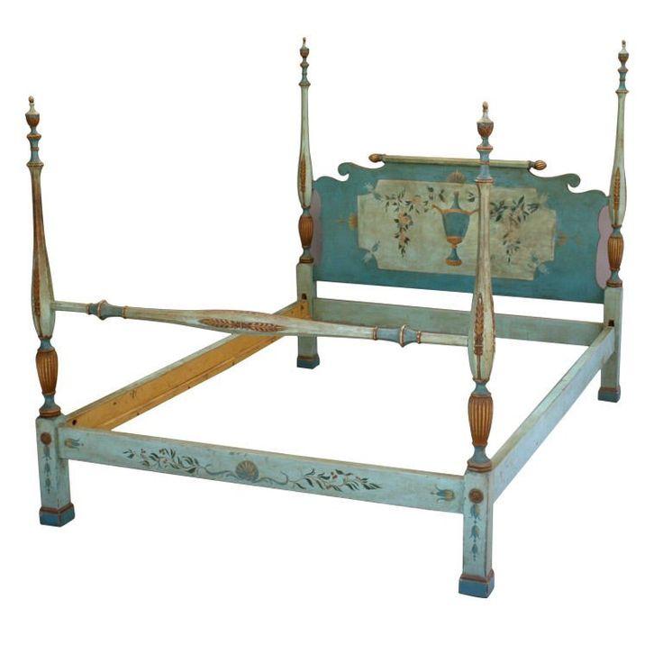 Italian Hand-Painted Bed Frame   1stdibs.com