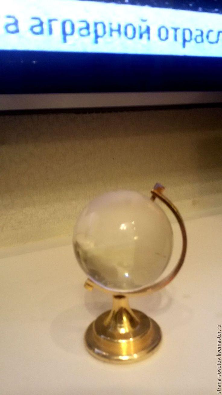 Купить Винтаж Стеклянный глобус - золотой, глобус, стеклянный глобус, винтаж, интерьер, подарок, Праздник