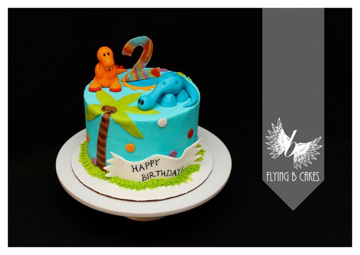 Little boy fondant dinosaur birthday cake  www.flyingbcakes.com