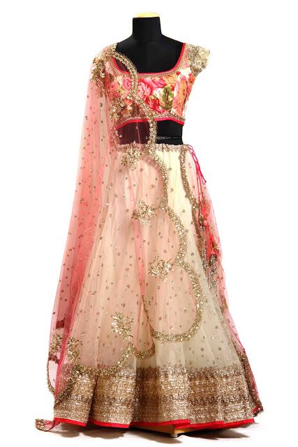 Lehenga by Anushree Reddy... interesting blouse print...