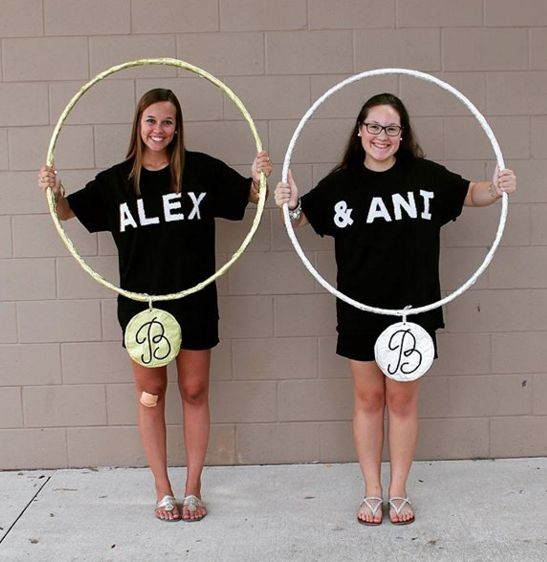 CUTE big/little costume idea ~ Alex & Ani bracelets! Shop our Sorority Collections at Alex and Ani