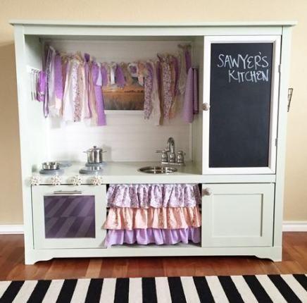 Diy kitchen set for kids entertainment center 26+ Ideas