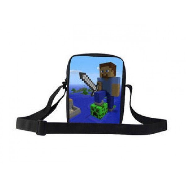 Minecraft taske med plads til en iPad mini eller andre ting der skal med på turen