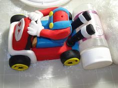 RooneyGirl Cupcakes: Starting from Scratch: My First Two Tiered Fondant Cake - Super Mario Kart Birthday