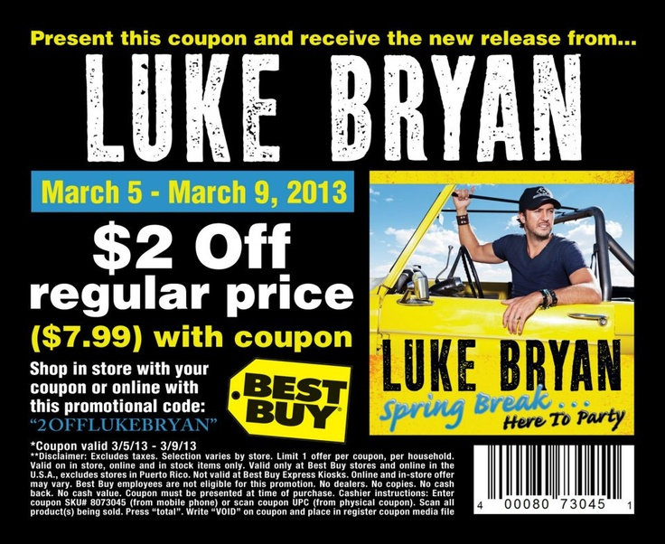 Saving 4 A Sunny Day: $2 Off Luke Bryan's New CD