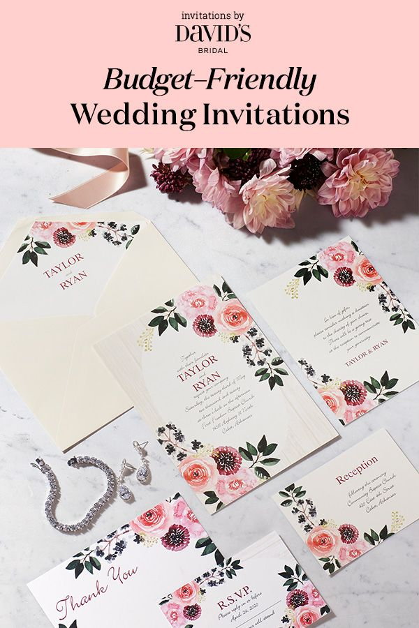 Painterly Posie Floral Wedding Invitations From Invitations By Davidu0027s  Bridal