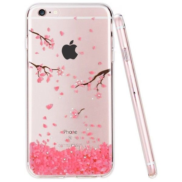 iPhone 6 Case,PZOZ Clear [Crystal Diamond not Fall] Soft TPU... ($11) ❤ liked on Polyvore featuring accessories and tech accessories