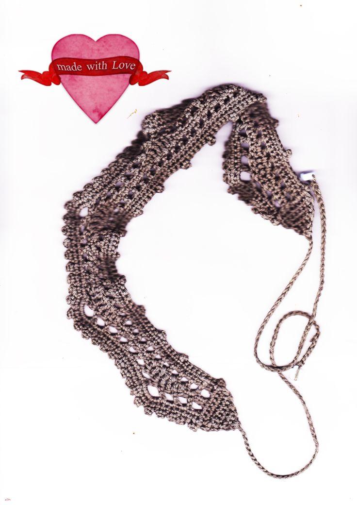 Crochet headband grey