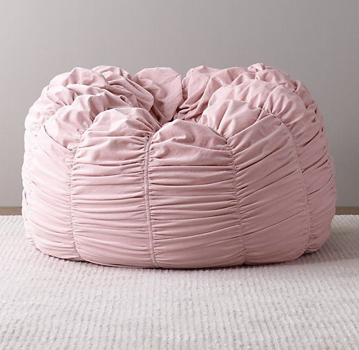 Washed Velvet Ruched Bean Bag