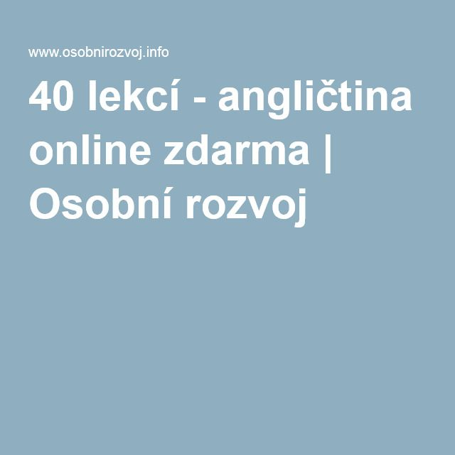 40 lekcí - angličtina online zdarma | Osobní rozvoj