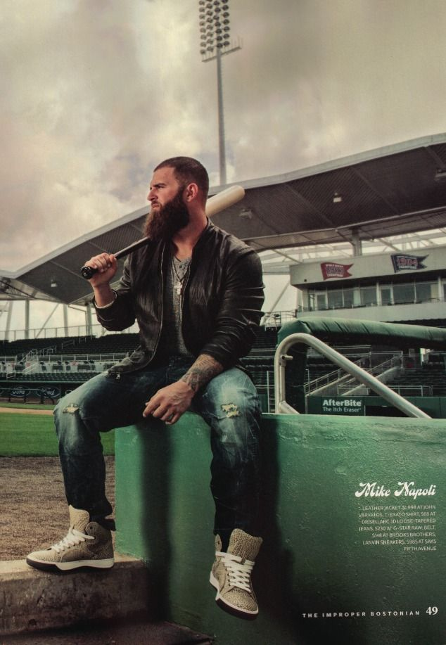 Mike Napoli..Boston Red Sox. Not a fan of the Red Sox but I am a fan of his beard.