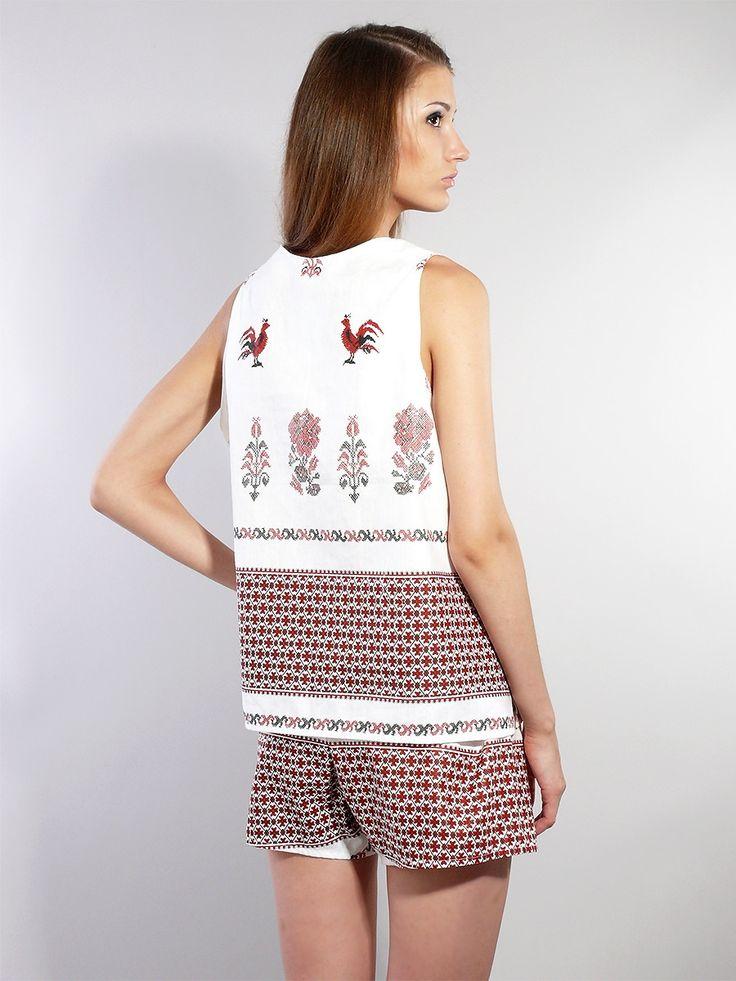 Льняные шорты и рубашка - модельная фотосъемка для интернет-магазина - Folov.in