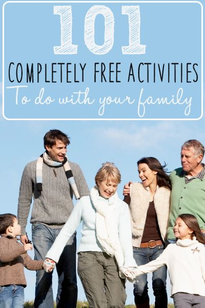 Stop spending money on spending time with your family? Check out this list of 101 completely free things to do with your family!