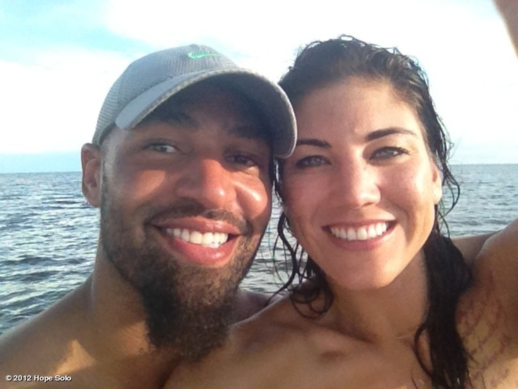 Hope Solo. 'Nov. 29, 2012. My beautiful husband & i happy as can be! Let me set the record straight!!! Jerramy has NEVER treated me poorly! The truth always prevails!' (WhoSay)