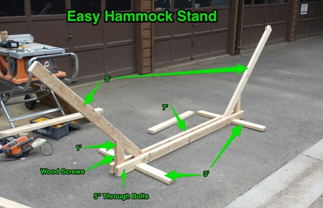 hammock stand using 2x4s handyman projects pinterest hammock stand and hammocks